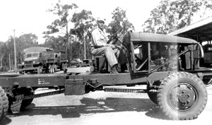 US truck, Officer Candidate School, Wacol c1943  Source: Lona Grantham